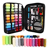 BCMRUN Sewing Crochet Kit,Portable Complete Needle Thread Kit with Zipper,Emergency Sewing Repair Organizer Incudes Threads Scissors Crochet Thimble...
