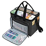 "Teamoy Knitting Bag, Yarn Tote Organizer with Inner Divider (Sewn to Bottom) for Crochet Hooks, Knitting Needles(Up to 14""), Project and Supplies,..."