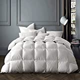 Globon Winter White Goose Down Comforter King Size,Down Duvet Insert 60 OZ, 700 Fill Power, 400 Thread Count 100% Cotton Shell, with Corner Tabs,...