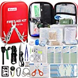 Monoki First Aid Kit Survival Kit, 241Pcs Upgraded Outdoor Emergency Survival Kit Gear - Medical Supplies Trauma Bag Safety First Aid Kit for Home...