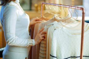 Cashmere Sweaters on Rack