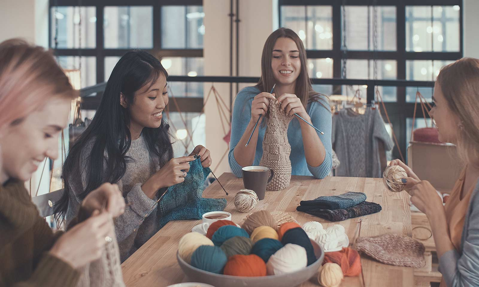 Knitting Group Therapy